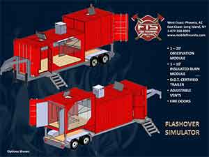 Mobile Flashover Live Firefighter Training Props for Fire Service Professionals