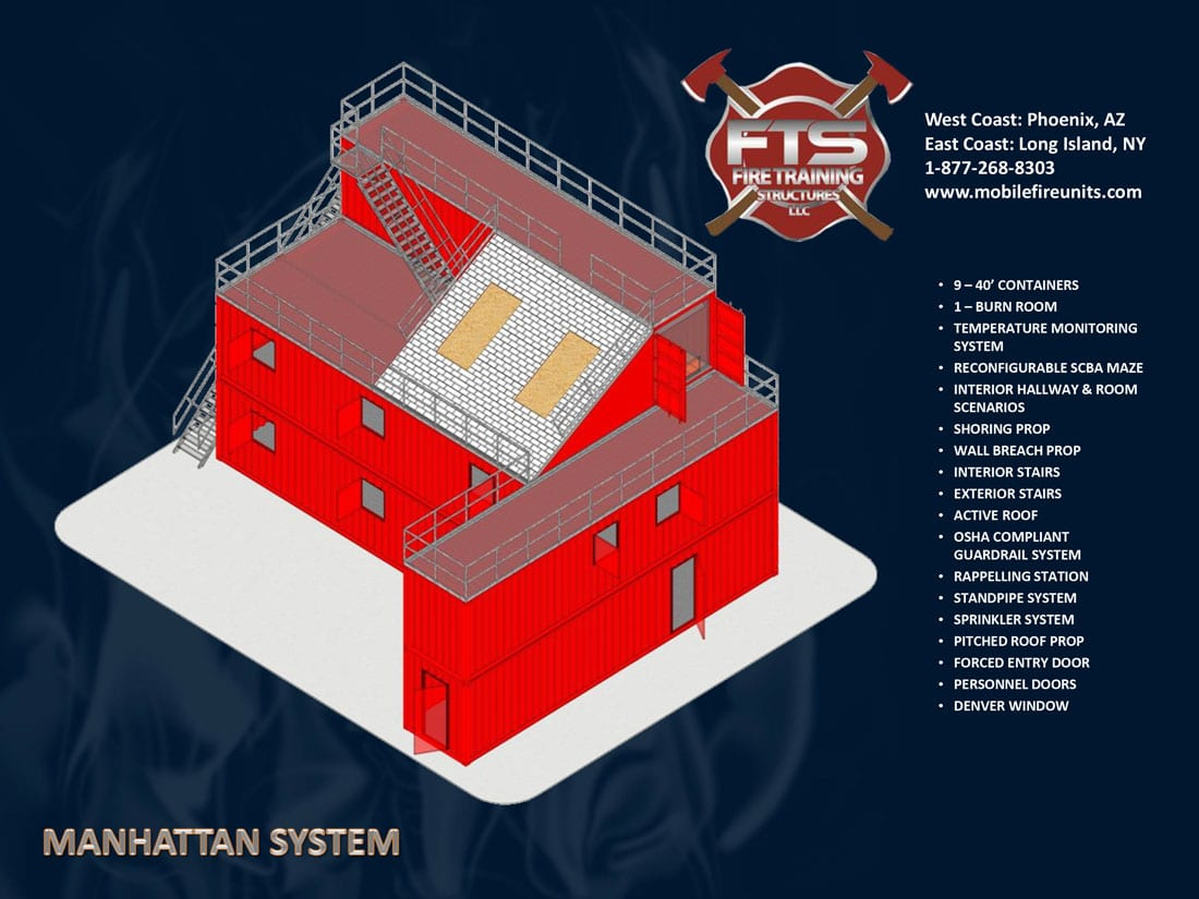 Manhattan Maze Type Fire Training Props | Fire Training Structures LLC