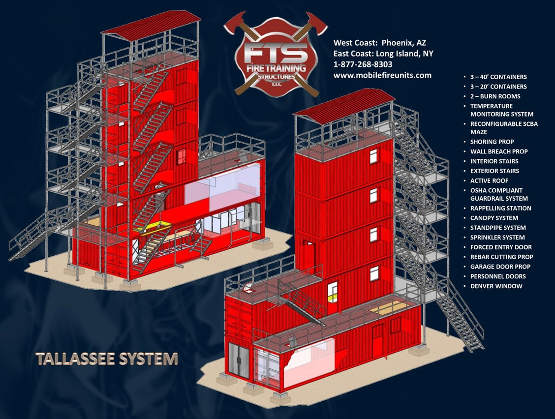 Tallassee System Multiple Story Structure Fire Training Simulator | Fire Training Structures LLC