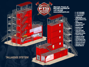 Multiple Story Stationary Training Structures for Fire Service Professionals