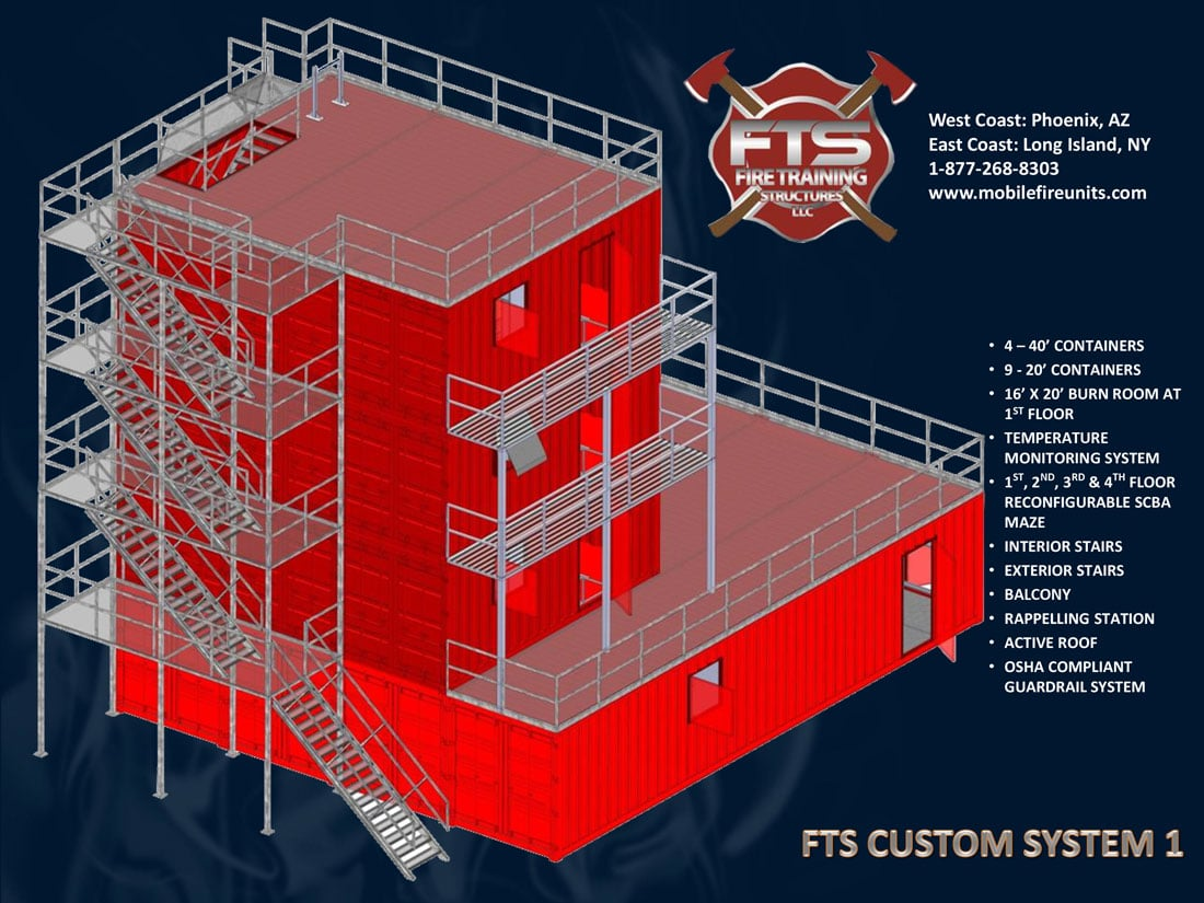 Custom Fire Training System #1 | Quality Fire Training Props | Fire Training Structures LLC