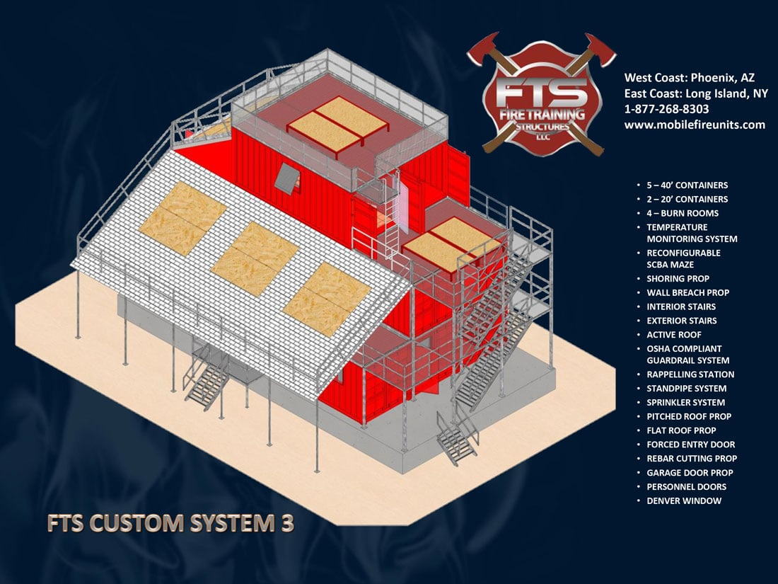 Custom Fire Training System #3 | Fire Training Structures LLC