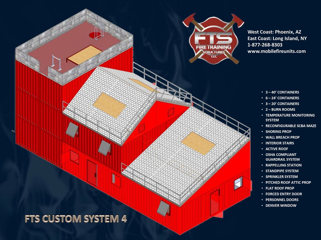 Custom Fire Training System #4 | Fire Training Structures LLC