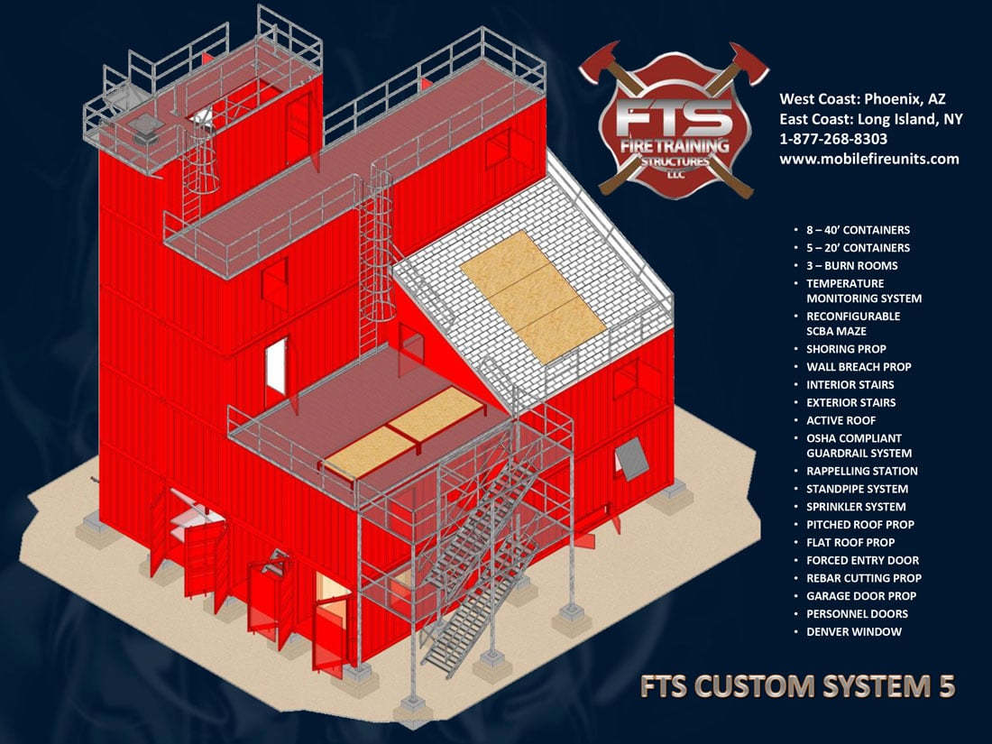 Custom Fire Training System #5 | Fire Training Props | Fire Training Structures LLC