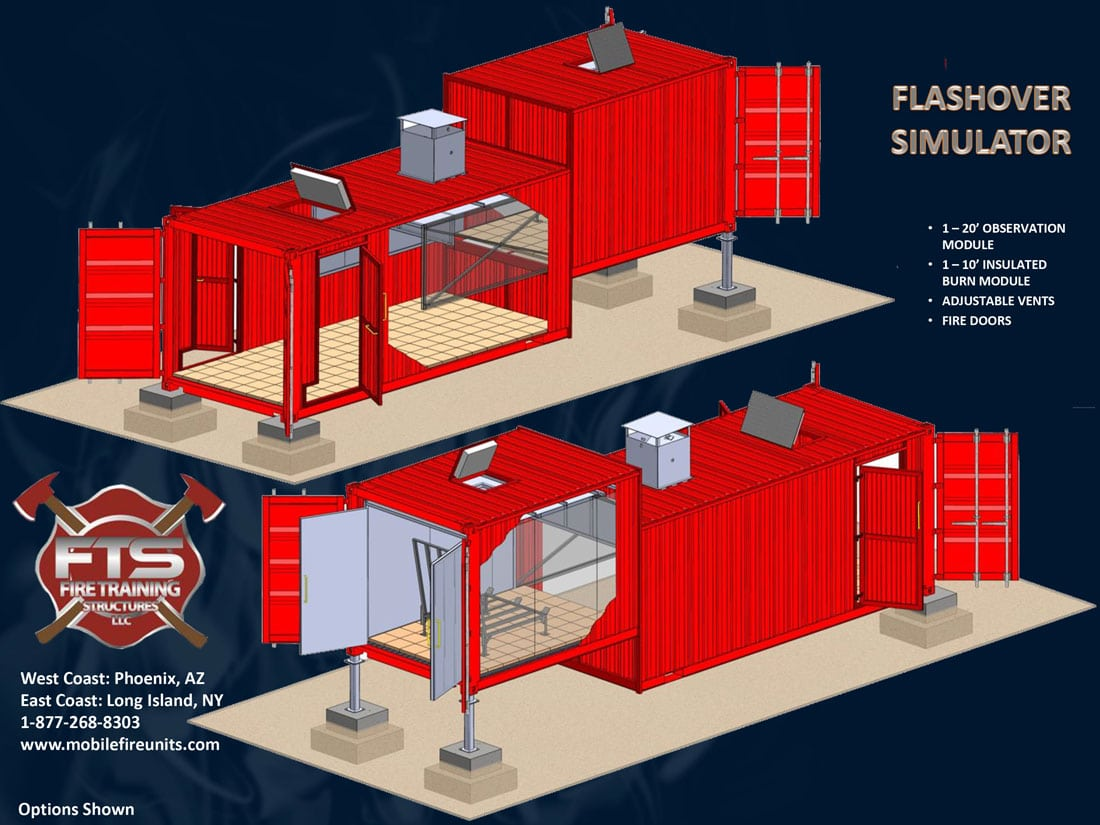 An Image Of The Flashover Simulator Brochure