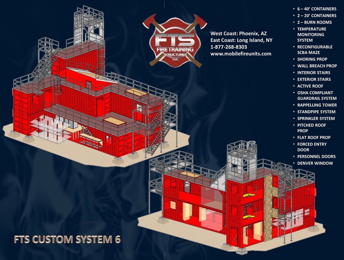 Custom Fire Training System #6 | Fire Training Props | Fire Training Structures LLC