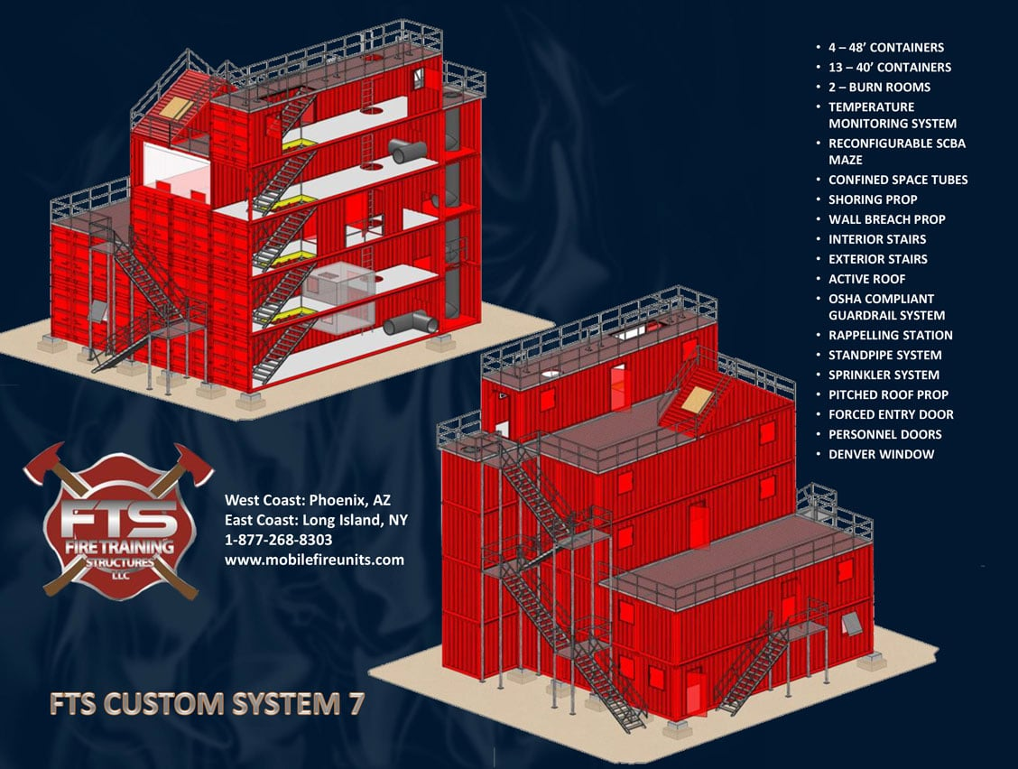 Custom Fire Training System #7 | Fire Training Props | Fire Training Structures LLC