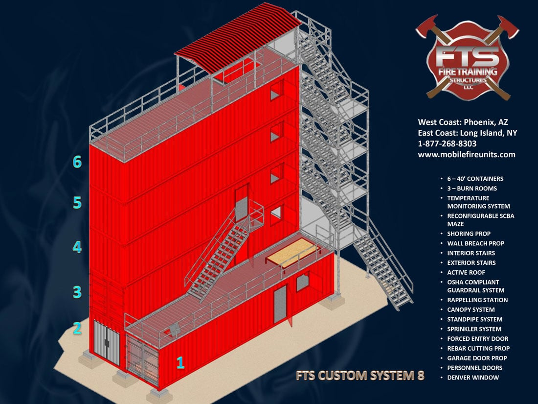 Custom Fire Training System #8 | Fire Training Props | Fire Training Structures LLC