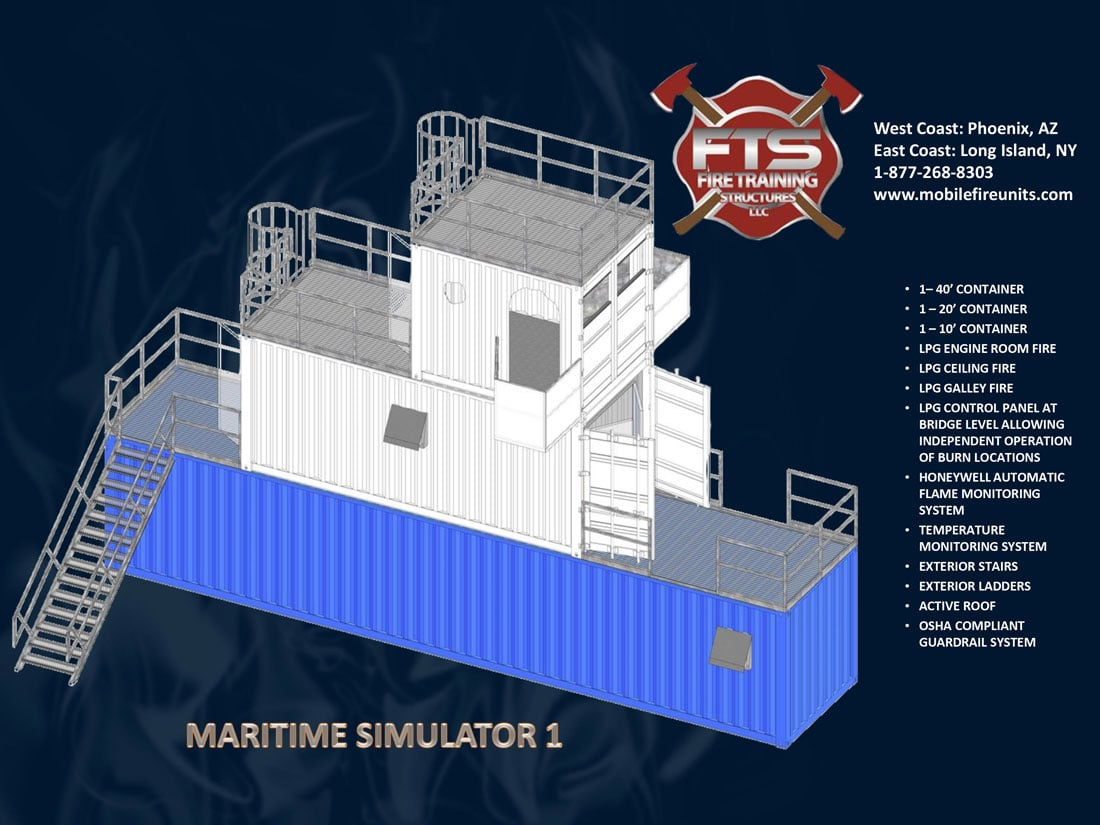 Ship & Maritime LPG Fire Simulators | Fire Training Structures LLC