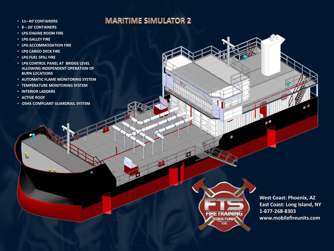 Maritime & Ocean Vessel Fire Training Props | Fire Training Structures LLC