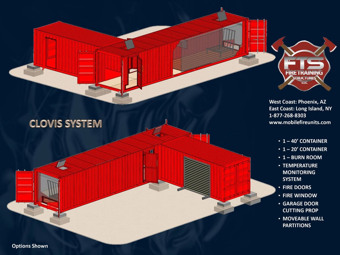 Clovis Firefighter Training Simulator | Fire Training Structures LLC