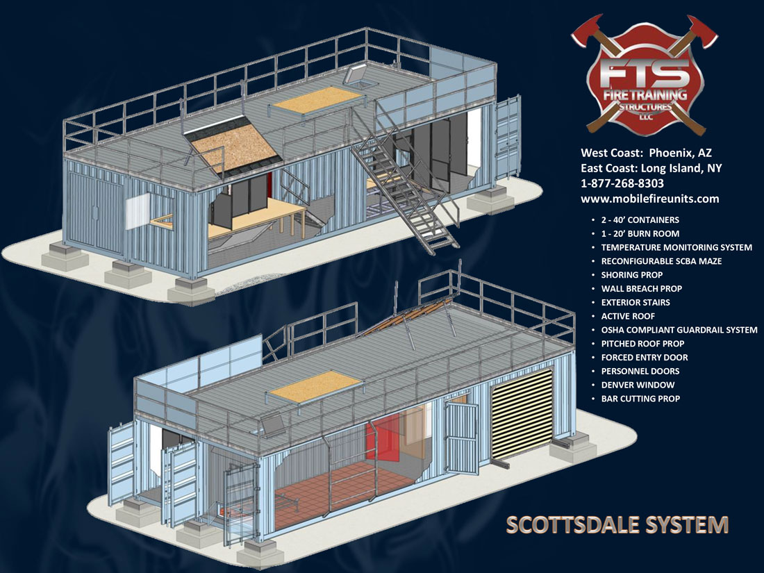 Scottsdale System Multiple Structure Fire Training Props | Fire Training Structures LLC