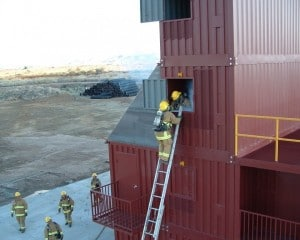 Image of firefighters doing ladder training in Buckeye System