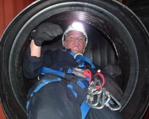 SCBA Confined Space System interior
