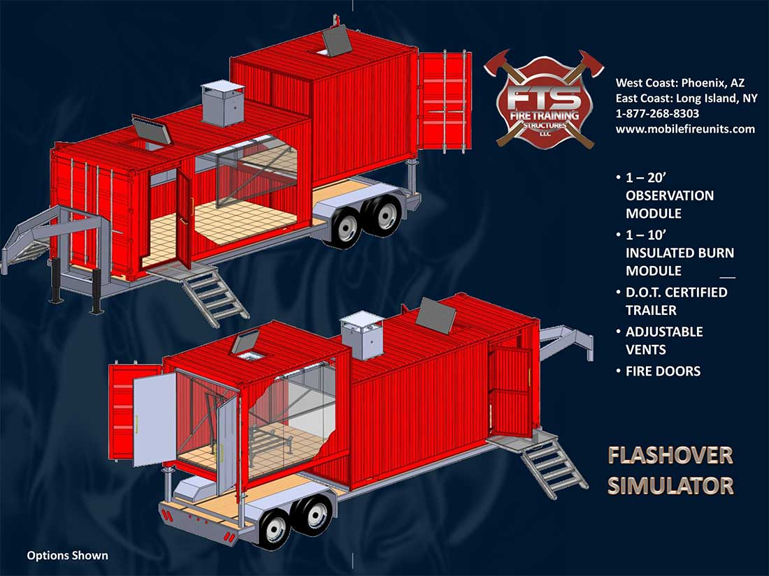 Mobile Flashover Simulator Towers & Trailers | Fire Training Structures LLC