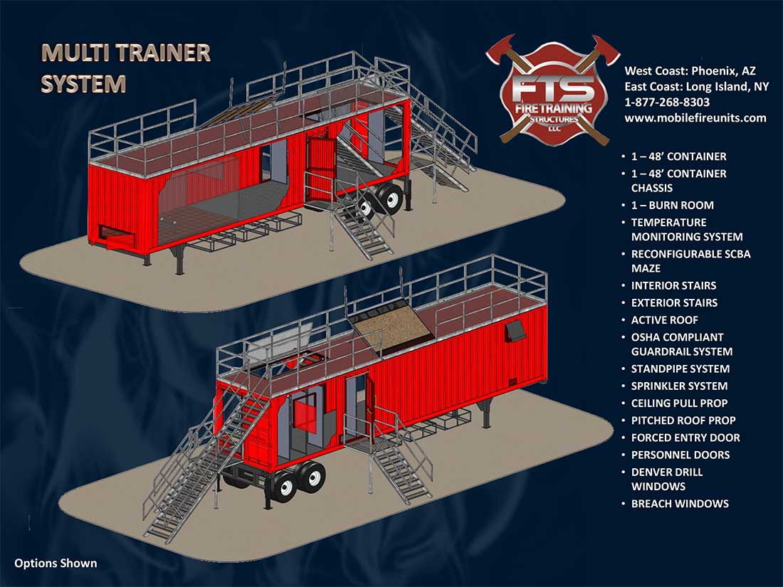 Mobile Multi-Trainer Steel Maze Systems | Fire Training Props & Structures LLC