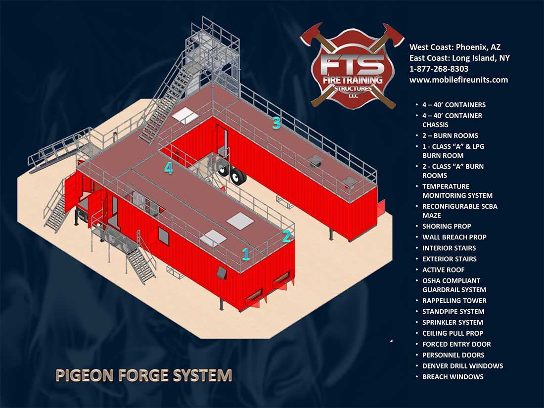 "Pigeon Forge Class ""A"" Fire Training Props 
