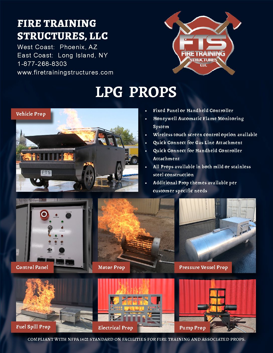 Image of a brochure of LPG Fueled Props