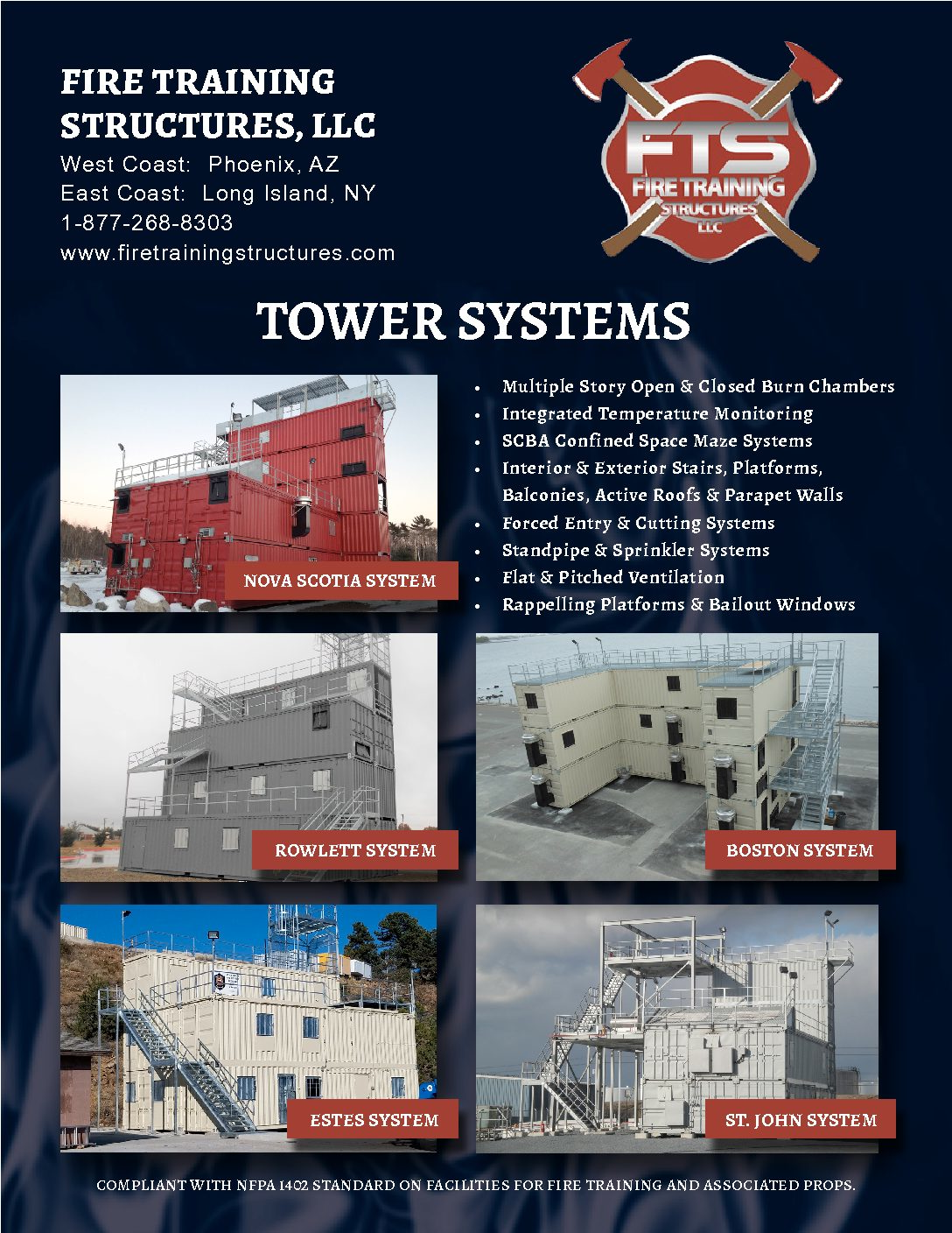 Image of a brochure of Fire Tower System
